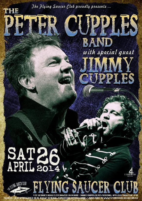 The Peter Cupples Band With Special Guest Jimmy Cupples
