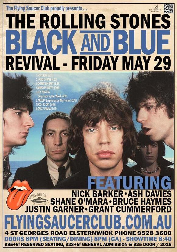 Rolling Stones Black Amp Blue Revival Flying Saucer Club