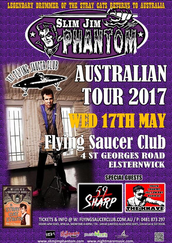 Slim Jim Phantom Trio Flying Saucer Club